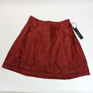 NWT Express faux suede skirt